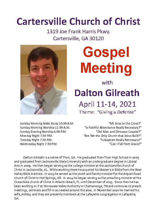 April 2021 Gospel Meeting